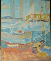 Port de St-Trop (mon interprétation). Nanou