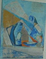 Vase bleu. Nanou