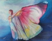 Femme papillon.