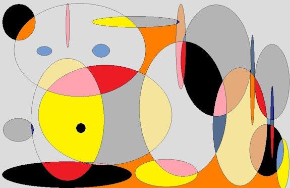 Avec des ronds (numérique). Nanou Nanou