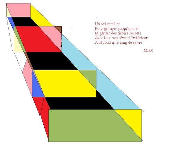 Escalier (numérique). Nanou Nanou
