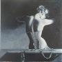 Intimité - Huile sur Toile 3d en noir et blanc. Baia Pontier