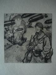 Jeune poilu confiant sous la mitraille. Historien d'art, Archéologue; Chercheur Free-L.