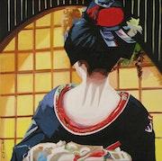 Geisha au paravent.
