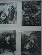 Planche de quatre saynettes. Historien d'art, Archéologue; Chercheur Free-L.