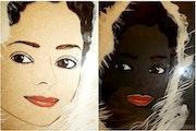 Essai portrait contemporain - peinture sous verre. Annie Saltel