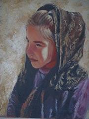 La petite fille au voile. Samos Blondina