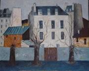 Petit immeuble dans une banlieue près de Paris.