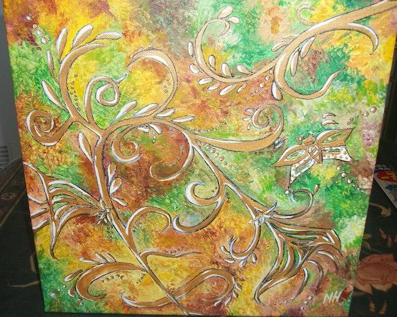 Fantaisie végétale / acrylique sur toile. Mariraff