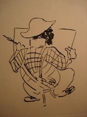 L'Artiste vu de dos par Toulouse-Lautrec. Historien d'art, Archéologue; Chercheur Free-L.