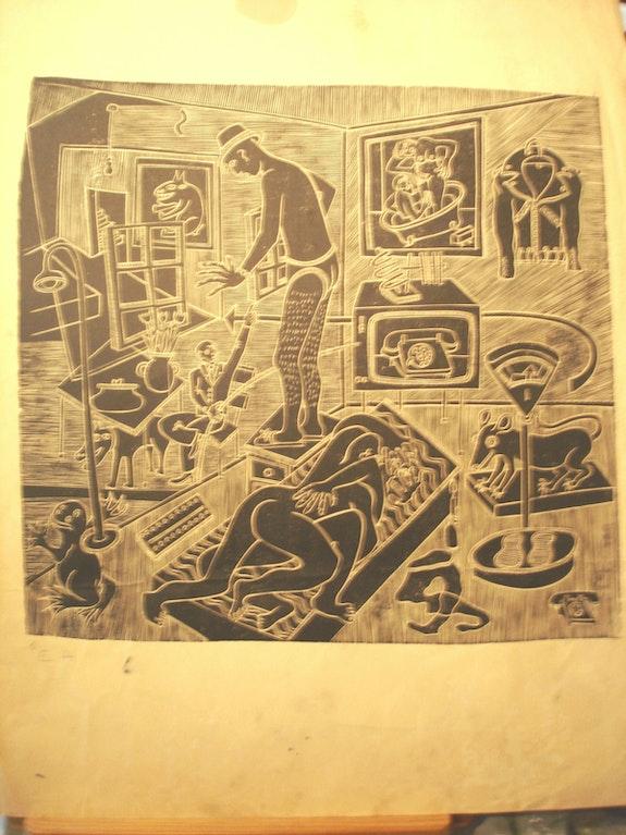 Scènes intimes et intérieures. Vision surréaliste.. Picasso ? Historien d'art, Archéologue; Chercheur Free-Lance (Er)