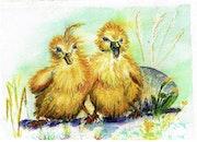 Zwei kleine Enten, Deux petits canards. Birgit Schlegel