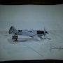 Prototype Dewoitine d520 abandonné. Forangeart F. Baldinotti Peintre De l'air