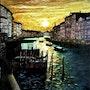 Venise - Le Grand Canal Station Rialto. Gérard Pichet