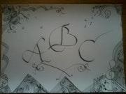 Calligraphie encre noire.