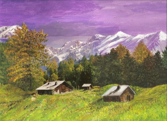 Printemps en montagne / Peinture en extension. Mariraff