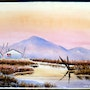 1040-1950 Original Watercolor ___Lodge Pole Home : Northern Territory (aq-0086). The William Frederick Brooks Collections