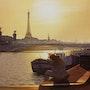 Le lecteur et le pont Alexandre III. Thierry Duval
