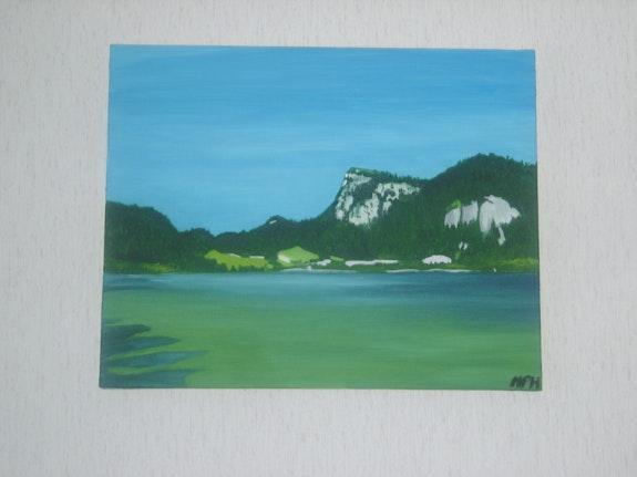 Tableau représentant le lac Brenet. Philippe Mayor Philippe Mayor
