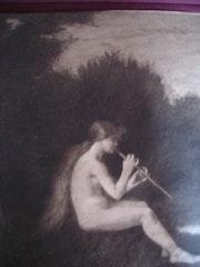 Nymphe jouant de la flûte, par Fantin. Historien d'art, Archéologue; Chercheur Free-L.