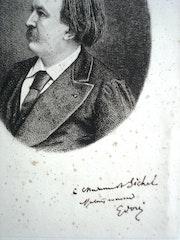 Autoportrait de Doré dédicacé. Historien d'art, Archéologue; Chercheur Free-L.