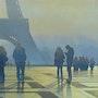 «Crépuscule sur La Tour Eiffel». Thierry Duval