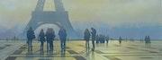 «Crépuscule sur La Tour Eiffel».