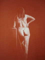 Leaning Nude. Jerry Ralya