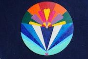 Montgolfière creation. 2011 Tableaux a caractère de logo.. Claude Sauvage