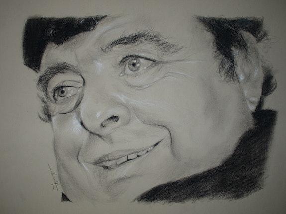 Jacques Villeret portrait au fusain. Philippe Flohic Philippe Flohic