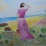 Woman walking. Domenech