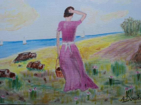 Woman walking. Domenech Domenech