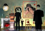 «Magritte regarde Dalì… E moi». Photos_Graphein