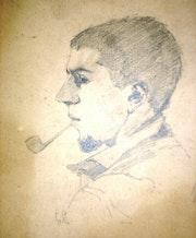G. Courbet, autoportrait jeune. Historien d'art, Archéologue; Chercheur Free-L.