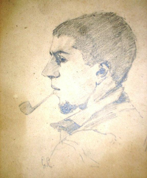 G. Courbet, autoportrait jeune. Gustave Courbet Historien d'art, Archéologue; Chercheur Free-L.