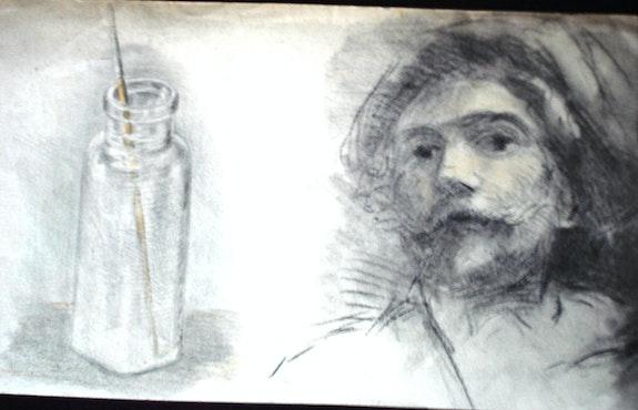 G. Courbet, autoportrait au pinceau. Gustave Courbet Historien d'art, Archéologue; Chercheur Free-L.