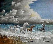Les chevaux de mer - Quand gronde l'orage / Sea horses - When the storm rumble.