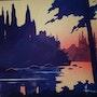 Lac au soleil couchant. Historien d'art, Archéologue; Chercheur Free-Lance (Er)