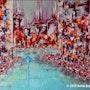Seul… Thème urbain. Anne Sophie Artiste Peintre Nantes