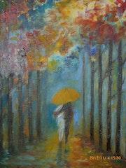 Féerie intime sous la pluie.