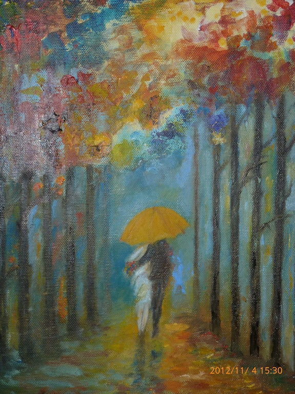 Féerie intime sous la pluie.  Jackie Engiel