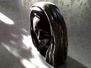 Buste de sainte en marbre de Villeneuve Minervois.