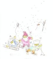 Jeux d'enfants : Sports d'hiver.