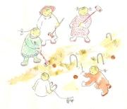 Jeux d'enfants : Le jeu de croquet.