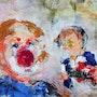 Clown fatal acrylique. Rémy Nicolas