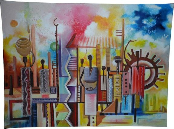 Vie Ouvrière africaine. Modou Jatta Art Africains