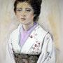 Jeune femme au kimono blanc. Althéia - Martine Vinsot