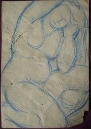 Anonyme (Maillol ? Ou Lhote ? ). Étude de femme nue assise se coiffant.. Historien d'art, Archéologue; Chercheur Free-L.