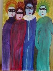 Las cuatro amigas carnavalescas. Estela