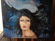 Femme mystique dans le vent.